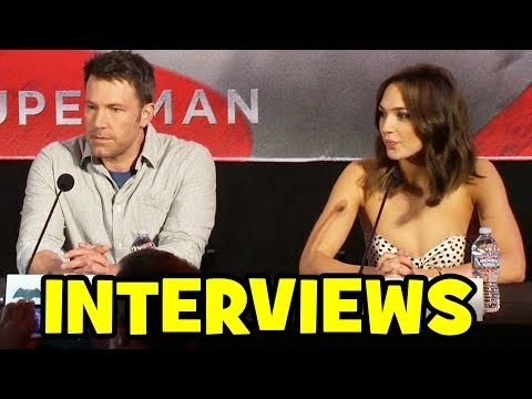 BATMAN V SUPERMAN World Press Conference - Ben Affleck, Henry Cavill, Gal Gadot, Jesse Eisenberg