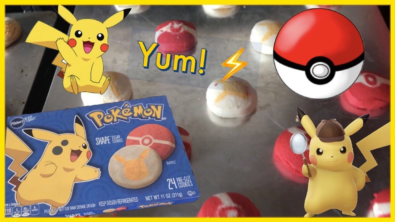 Pillsbury Pikachu Sugar Cookies From Walmart Haul Baking For Kids Pokemon Treats