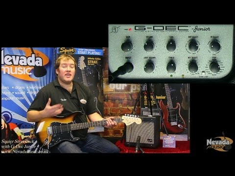 Squier Affinity HSS Strat Pack with G-Dec Junior Amplifier Demo - PMTVUK