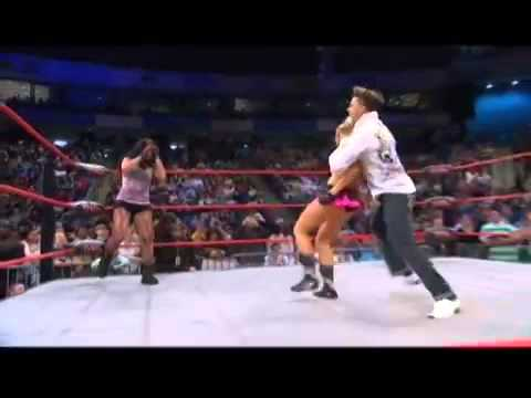 Wrestling Debut of Angelina from Jersey Shore   YouTube