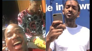Game & Blueface's Manager Wack100 Says Nipsey Deserved What Happened