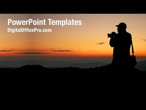 mountain photographer powerpoint template backgrounds, Modern powerpoint