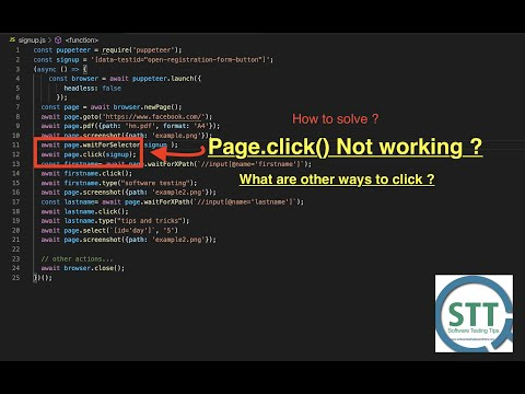 7 solutions for page.click() is not working in puppeteer