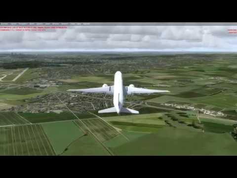 P3Dv4 2: PMDG 777 Departure LFPG (Taxi2Gate)