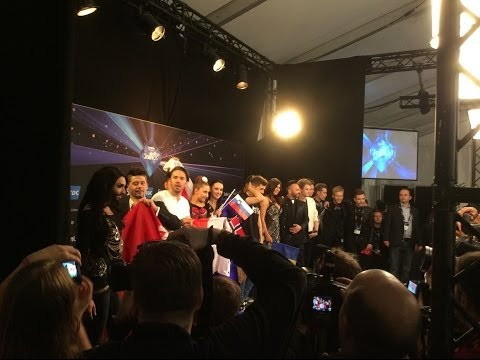 Fans at Eurovision Semi 2 & Final - Copenhagen 2014