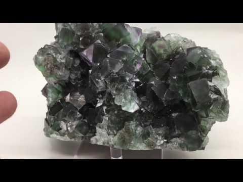 "5.2"" Large Cluster of Fluorite Cubes, Okorusu Mine, Namibia"
