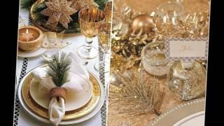 Новогодний стол Как украсить стол на Новый год