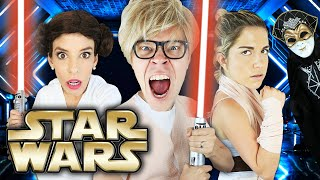 Star Wars In Real Life, Battle Royale to Save Game Master Challenge! Matt and Rebecca