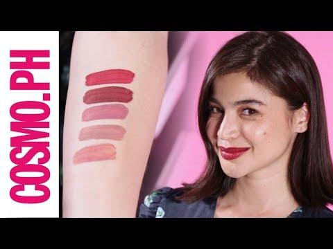 Anne Curtis Swatches Her Favorite BLK Cosmetics Lipsticks