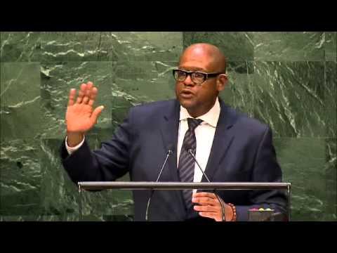 Forest Whitaker interviene all'ONU nel corso della IV conferenza degli speaker dei Parlamenti