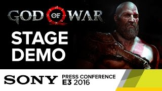 God of War Stage Demo - E3 2016 Sony Press Conference
