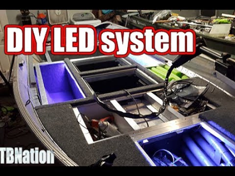 DIY LED light strip soldering & installation for your boat  (jon boat to  bass boat) # TBNation
