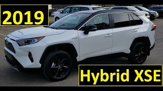 Toyota Rav4 2019 Hybrid XSE package review and walk around in White with the Black roof