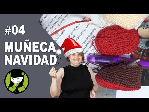 Bota muñeca navideña a crochet 4 amigurumis de navidad