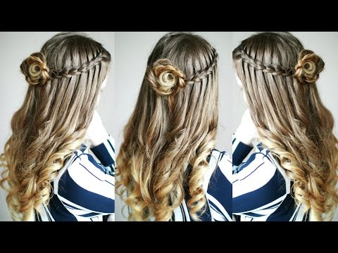 half-up-half-down-flower-braid-and-waterfall-braid-combo-|-braidsandstyles12