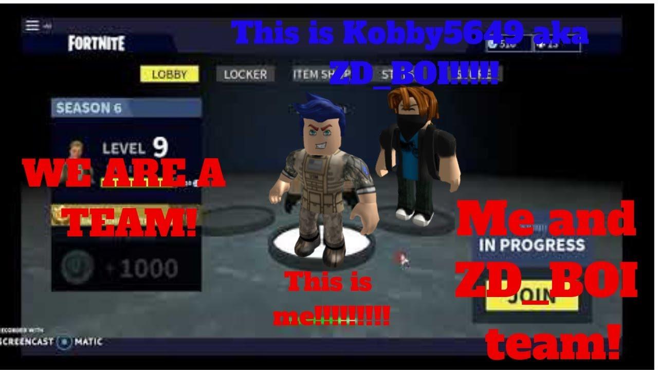 Superkwak911 And Kobby5649 Team Roblox Fortnite Not Island Royale