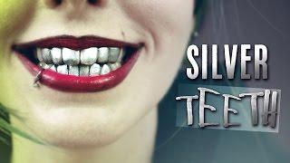 silver grillz dientes metlicos how to make fake metallic joker teeth denture with thermoplastic
