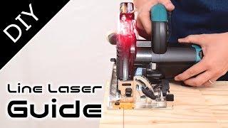 【diy】丸ノコに自作のラインレーザーを組んだ結果・・・how to make circular saw line laser