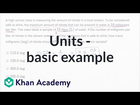 Units — Basic Example | Math | New SAT | Khan Academy