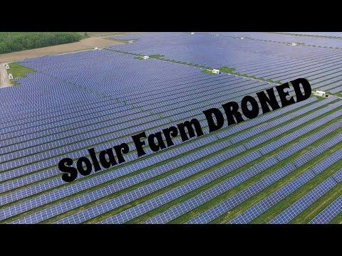 Amazing Solar Farm Drone Footage.