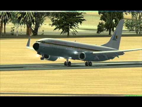 PMDG NGX CAMEROON AIR FORCE LANDING AT GOOY