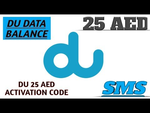 How To Check DU SIM Internet Data Balance And 25Aed Pack Activation