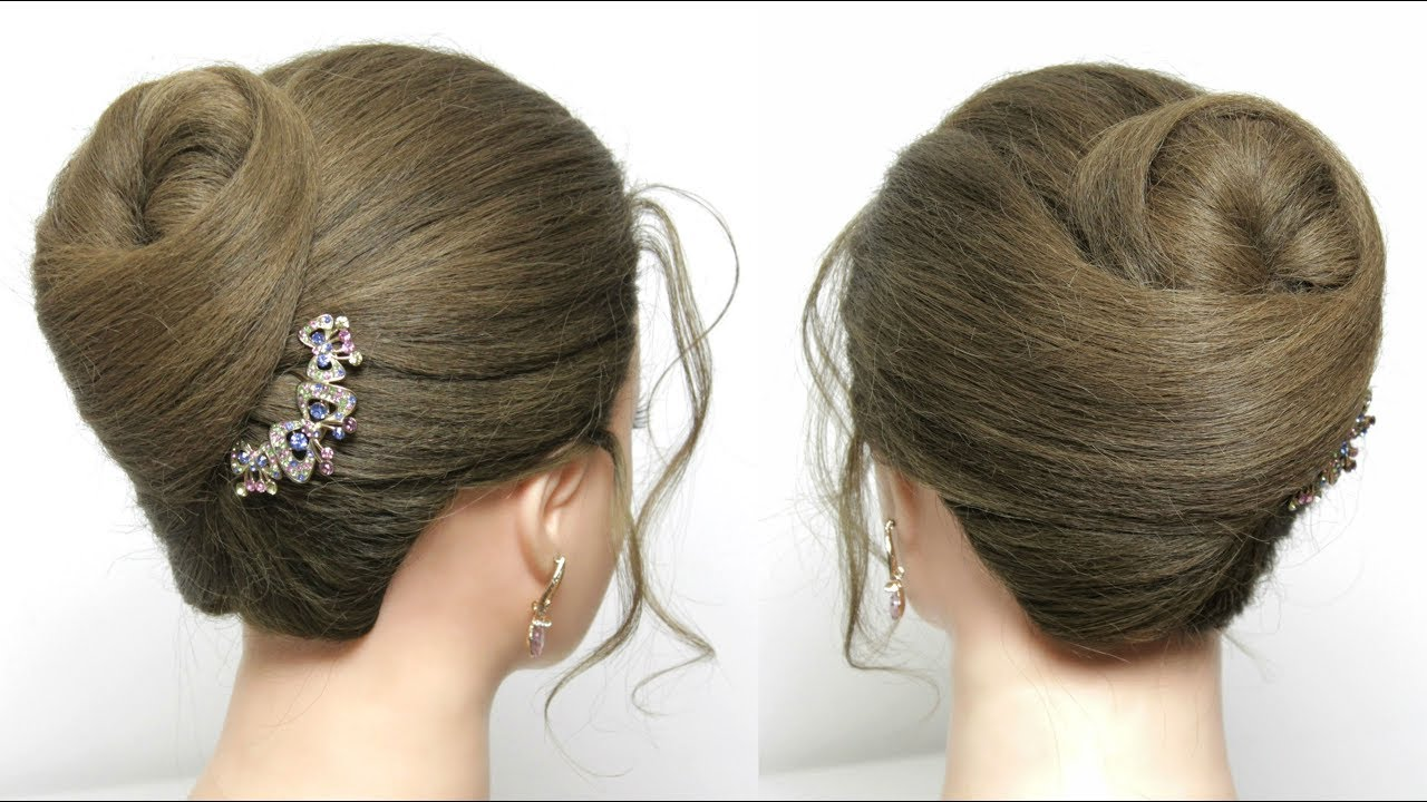 simple bun hairstyle for long hair tutorial. juda style