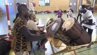 Stage de danse africaine au gymnase Gazillo, quartier des Chaumes d'Avallon (89) - Édition 2017