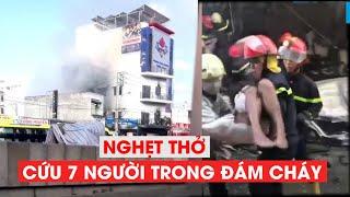Nghẹt thở giải cứu cả gia đình trong căn nhà cháy dữ dội ở Sài Gòn