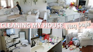 ALL DAY CLEAN WITH ME - CLEANING MOTIVATION VLOG STYLE! 2019 | Lauren Midgley