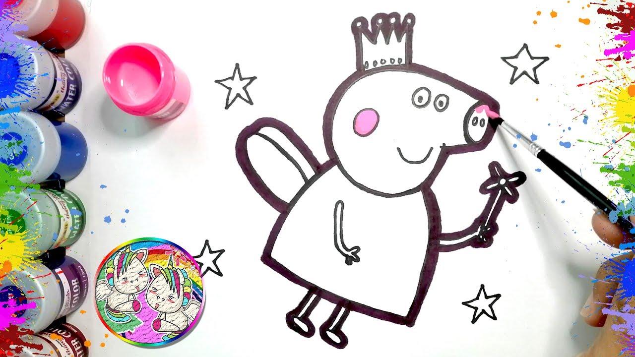 peppa wutz zeichnen lernen für kinder   drawing peppa pig