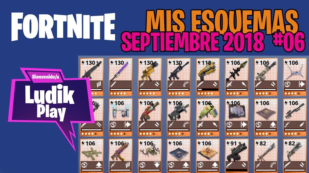 MIS ESQUEMAS #06 SEPTIEMBRE (KRIPTON, BUNDLEBUSS, DECONSTRUCTORA) | FORTNITE SALVAR EL MUNDO GUIA
