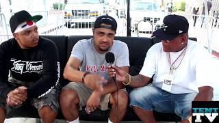 @Tui_da_shark & @KennyVilliami East End Block Party Interview With Tent TV