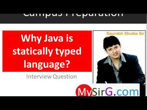 #1 Why Java is statically typed language Hindi