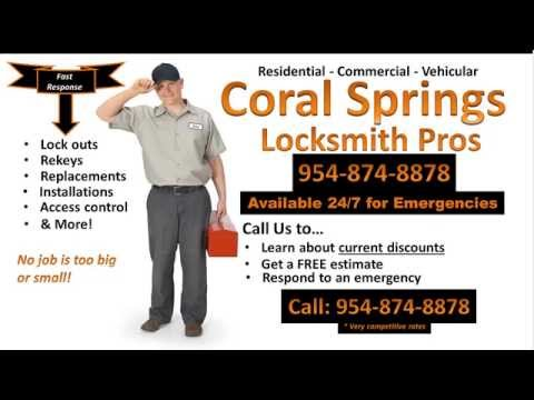 Locksmith Coral Springs | 954-874-8878