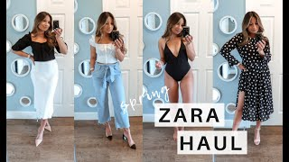 SPRING ZARA HAUL 2019 | OUTFIT IDEAS + LOOKS
