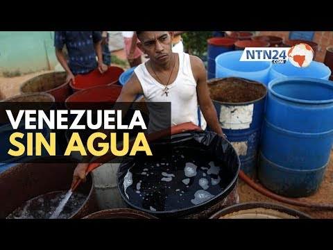 Venezolanos buscan agua en riachuelos ante fuerte racionamiento