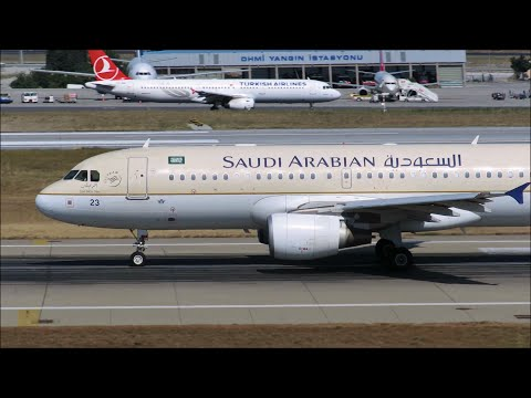 Saudi Arabian Airlines Airbus A320-214 [HZ-AS23|] - Takeoff at Istanbul Atatürk Airport |IST|LTBA|
