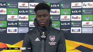 """They got a lucky penalty"" Bukayo Saka knows there's still work to do when Benfica come to Arsenal"