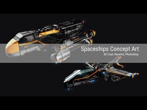 Spaceships stream / Concept Art / 3DCoat, Keyshot, Photoshop
