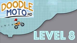 Doodle Moto HD - Level 8 - Gameplay Walkthrough - IOS Apple Game - Moto Racing!