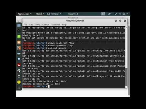 Kali Linux apt-get update error fix - Could not create /tmp/apt.conf - SOVLED