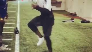Tyreek Hill showing off his impressive speed  the cheetah