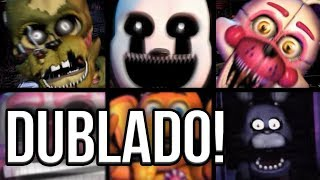 TODOS OS JUMPSCARES DUBLADOS DA ULTIMATE CUSTOM NIGHT! - FNAF - HUEstation
