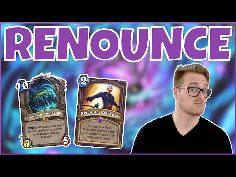 Hearthstone | Ridiculous Renounce! | Wild Renounce Darkness Warlock | Rise of Shadows