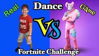 Fortnite Dance Challenge Real vs Game/ Famous Toli
