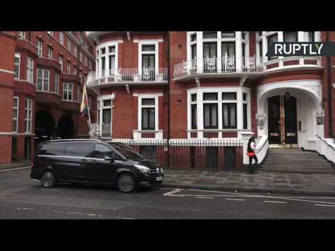 LIVE: Outside Ecuadorian Embassy in London day after Assange's internet shutdown