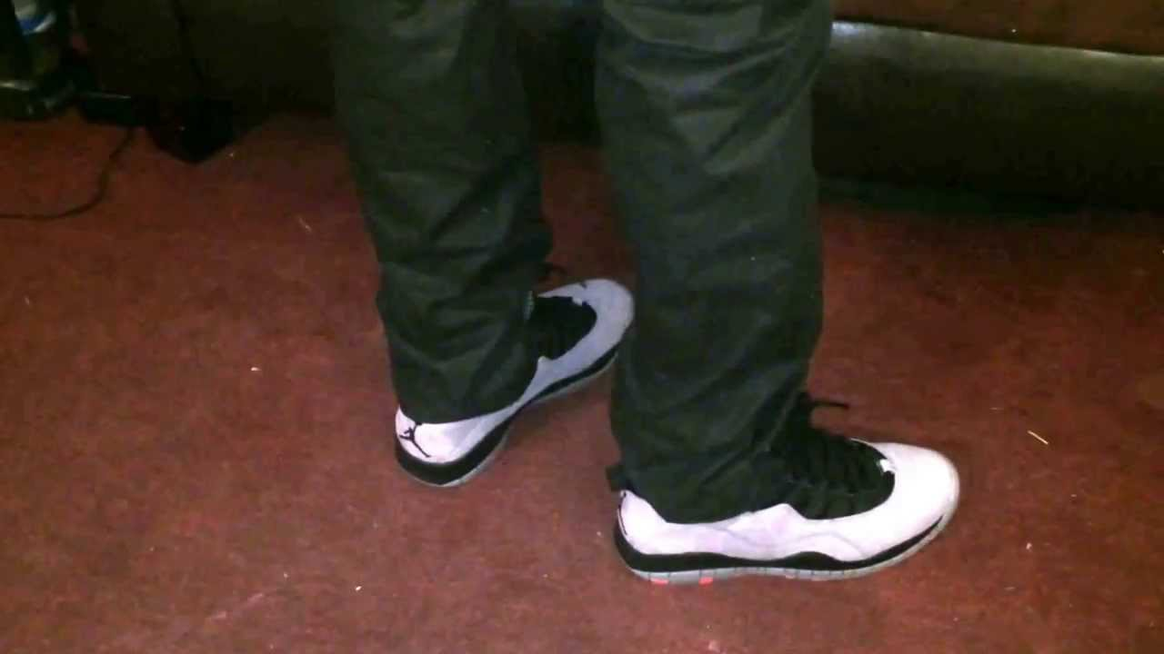 Cool Grey/Infrared 10's On Feet - YouTube