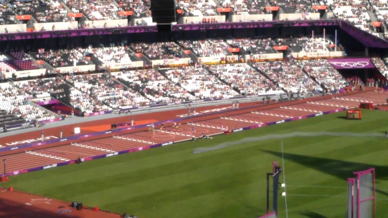 London 2012 men's decathlon hurdles - YouTube