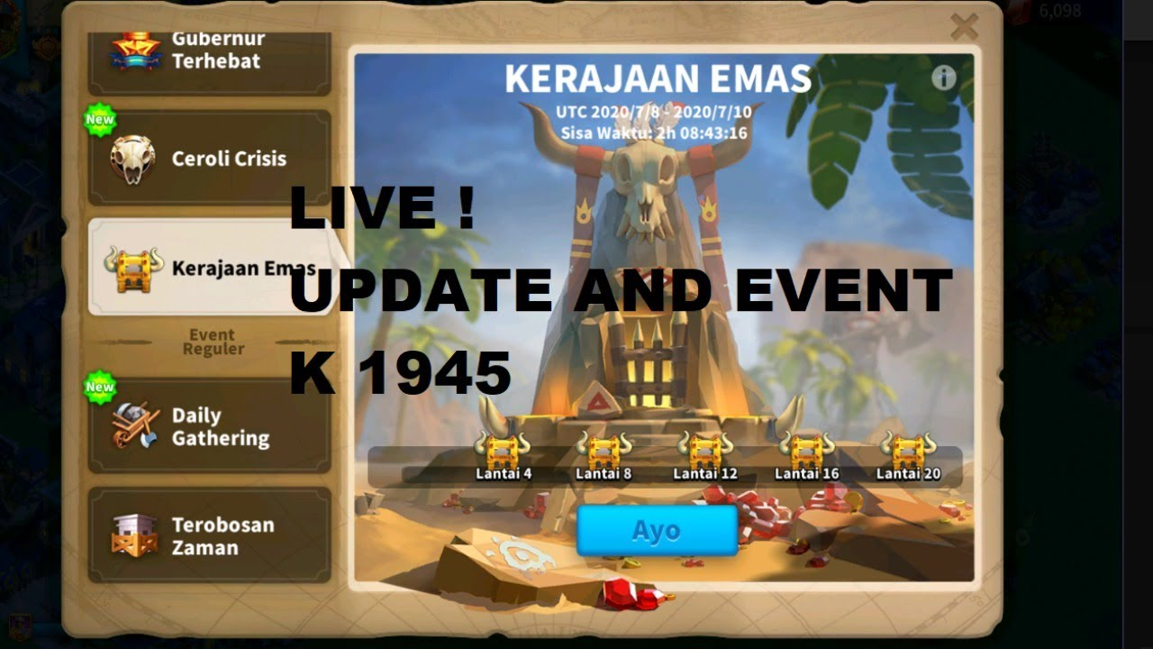 Live ! Update and event K1945